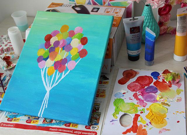 Bedwelming Makkelijk een mooi schilderij maken | Cadeaus maken &HQ08